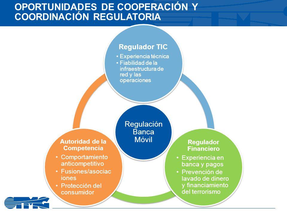 OPORTUNIDADES DE COOPERACIÓN Y COORDINACIÓN REGULATORIA