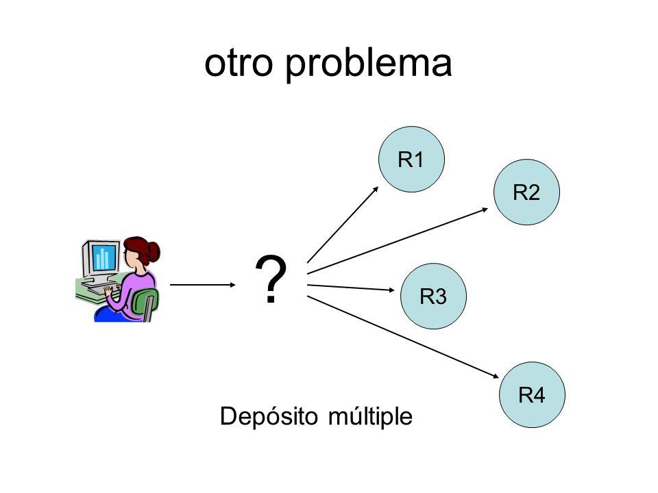 otro problema R3 R4 R2 R1 Depósito múltiple