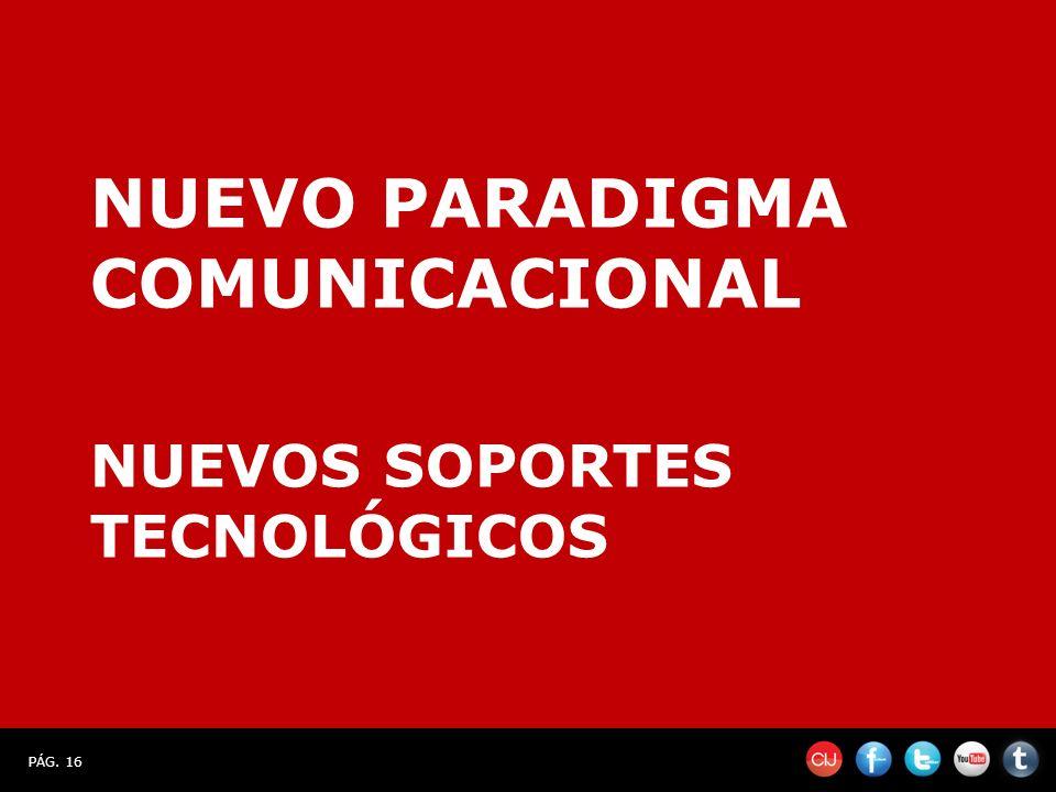 PÁG. 16 NUEVO PARADIGMA COMUNICACIONAL NUEVOS SOPORTES TECNOLÓGICOS