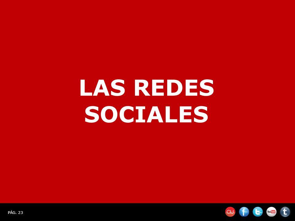 PÁG. 23 LAS REDES SOCIALES