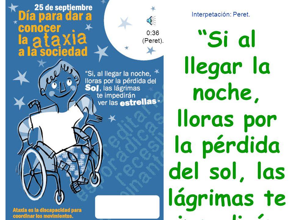 Autora: María Blasco, paciente de Ataxia de Friedreich, de Pamplona.