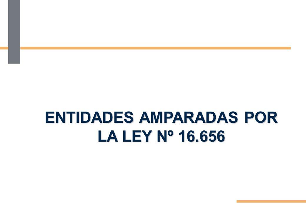 ENTIDADES AMPARADAS POR LA LEY Nº 16.656