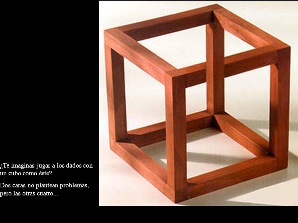 ¿Te imaginas jugar a los dados con un cubo cómo éste? Dos caras no plantean problemas, pero las otras cuatro...