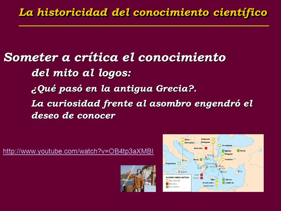 Someter a crítica el conocimiento del mito al logos: ¿Qué pasó en la antigua Grecia?. La curiosidad frente al asombro engendró el deseo de conocer htt