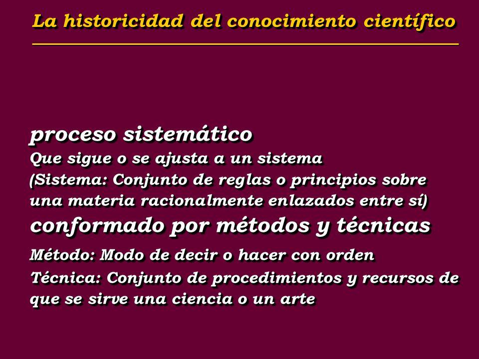 proceso sistemático Que sigue o se ajusta a un sistema (Sistema: Conjunto de reglas o principios sobre una materia racionalmente enlazados entre sí) c
