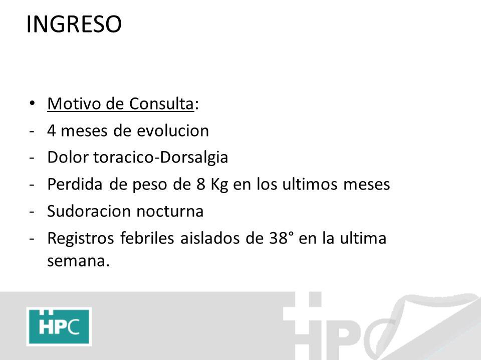 EXAMEN FISICO BEG afebril, normotenso, eupneico, FC 80 reg.