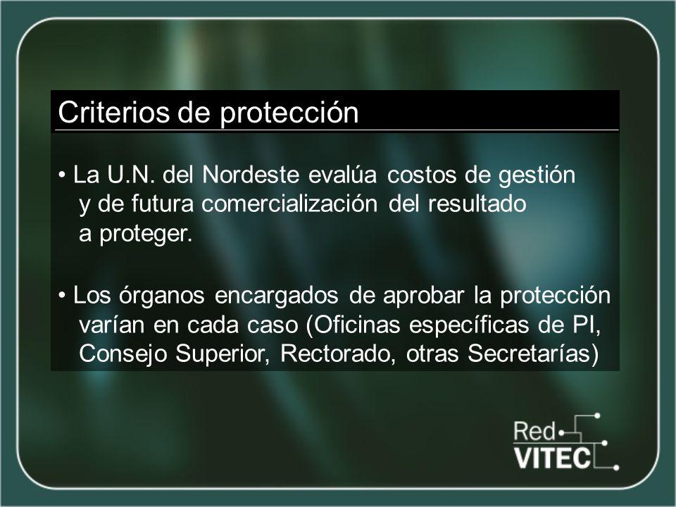 Criterios de protección La U.N.