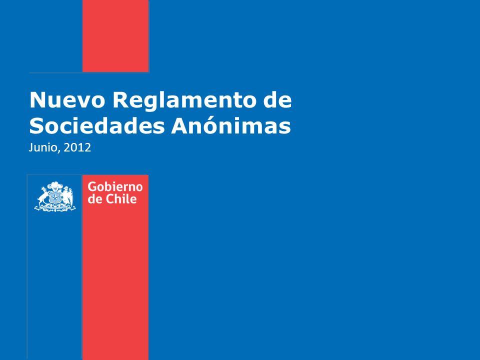 Nuevo Reglamento de Sociedades Anónimas Junio, 2012