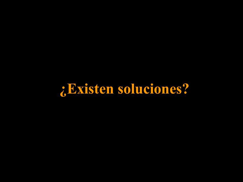 ¿Existen soluciones?
