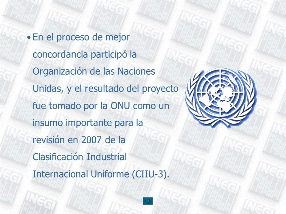 En el proceso de mejor concordancia participó la Organización de las Naciones Unidas, y el resultado del proyecto fue tomado por la ONU como un insumo
