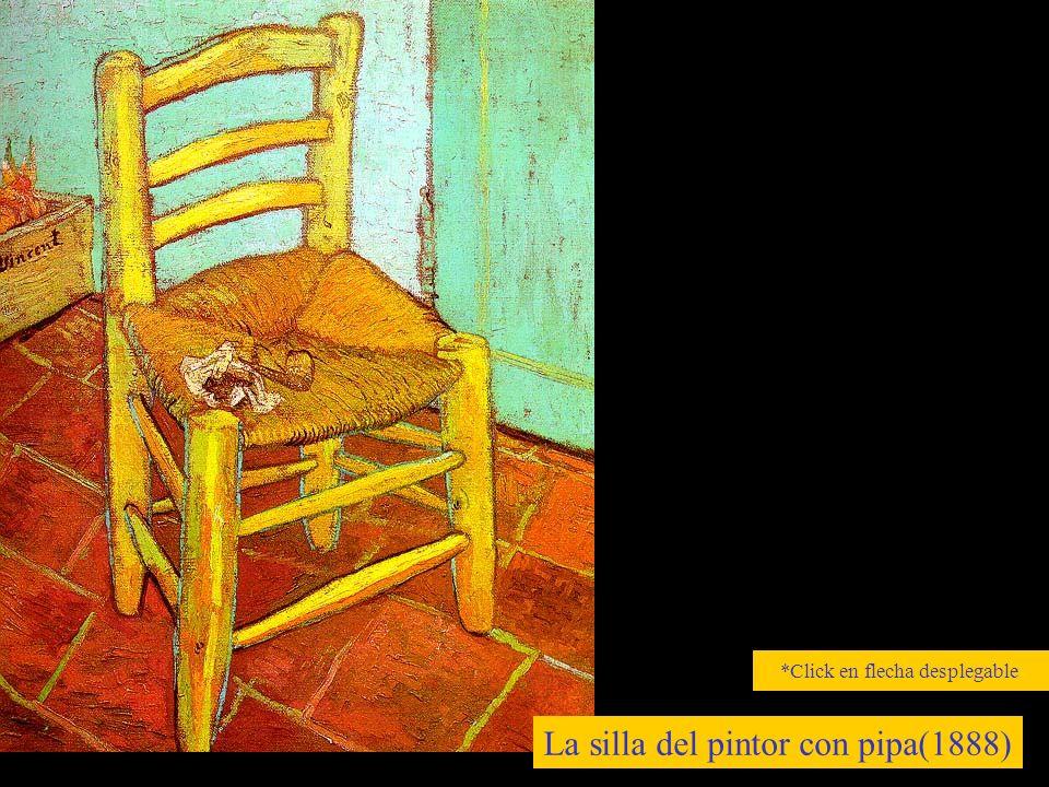La silla del pintor con pipa(1888) *Click en flecha desplegable