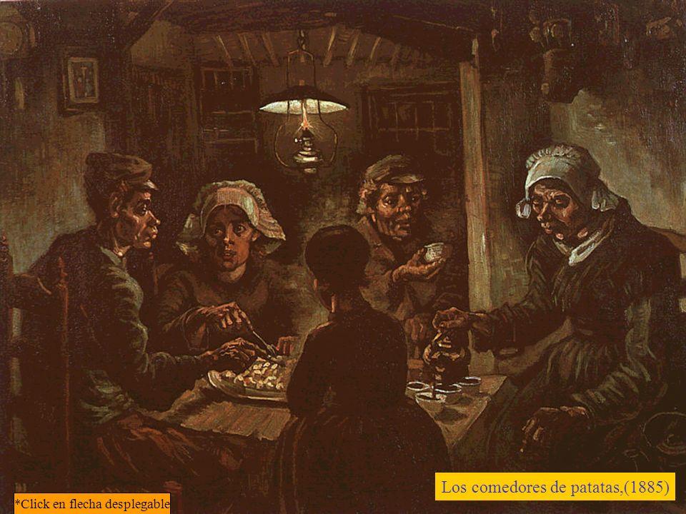 Uno de los temas favoritos de Van Gogh durante su reclusión en Saint-Rémy son los cipreses: son bellos como un obelisco egipcio, dice sorprendido de que nadie se haya fijado en ellos.