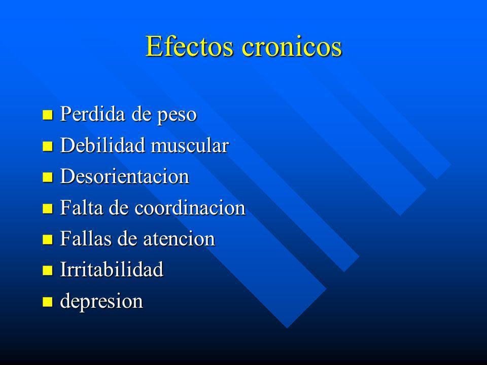 Efectos Agudos III(nitritos) n Vasodilatacion n Taquicardia n Sensacion de calor y excitacion n Cefalea n Bochornos n Mareo
