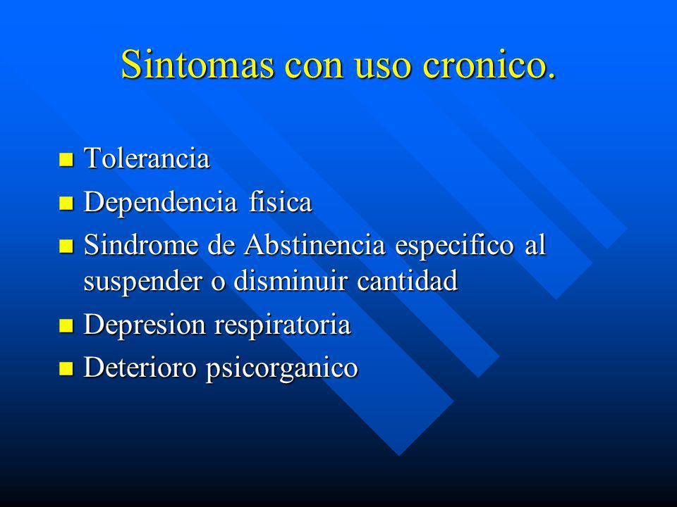 Sintomas de intoxicacion n Obnubilacioin n Euforia n Alteracion del habla n Analgesia n Anorexia n Hipoactividad y disminucion de la libido n Contricc