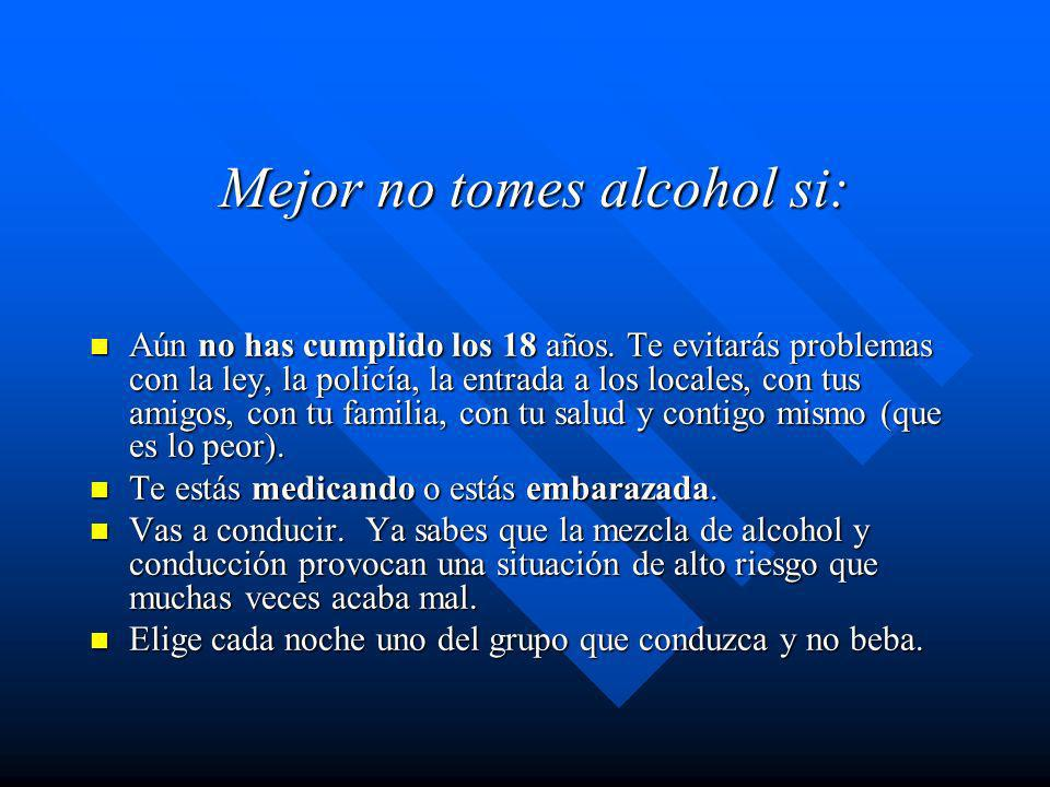¿A qué Equivale cada Copa? n Unidad de alcohol, es equivalente a 10 gramos de alcohol puro; volumen que aumenta la alcoholemia en 0,2 – 0,3 gramos / l