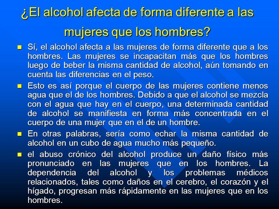 Los efectos del alcohol etílico e interacción de distintos factores n Edad: mayor efecto al ingerir similar dosis en personas adolescentes que en adul