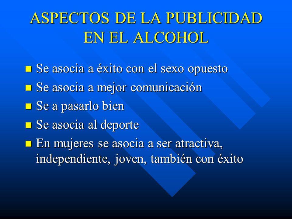 MITOS RESPECTO AL ALCOHOL n Es un estimulante n Ayuda para calentarse (cuando hace frío) n Sirve para el resfrío n Hace mas hombre n La cerveza es bue