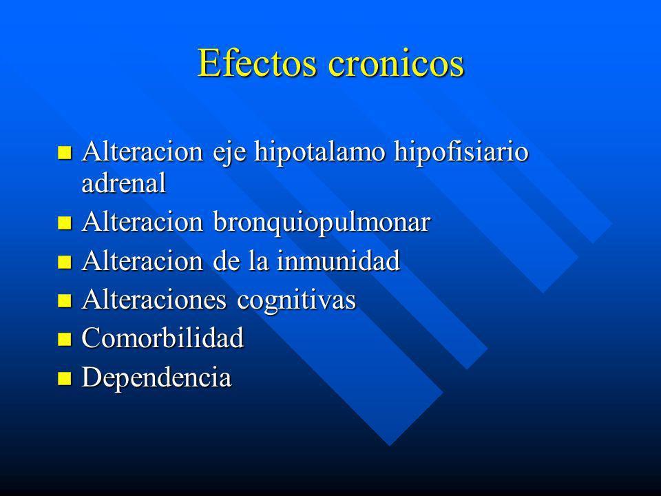 Efectos agudos n Aumento de frecuencia cardiáca n Sequedad mucosas n Dilatación de pupilas n Alteracion de las percepciones n Relajación, deshinibicio