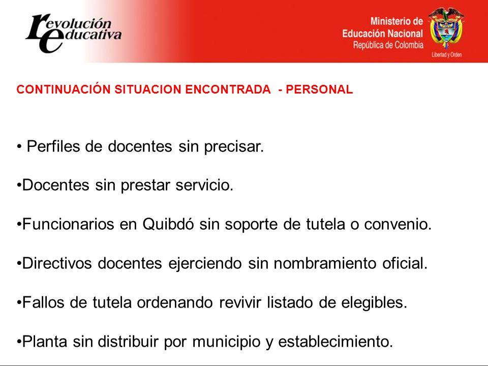 OPORTUNIDADES DE MEJORAMIENTO PERSONAL Convocatoria general de docentes que no tenían definida su situación de ubicación.