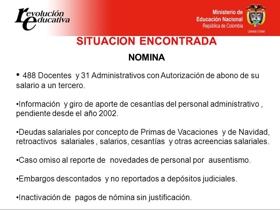 Continuación Situación Encontrada - NOMINA No cobro de incapacidades del Personal Administrativo a cada EPS Pago de Seg.