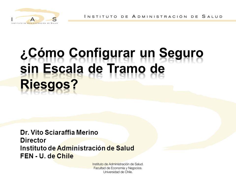 Dr. Vito Sciaraffia Merino Director Instituto de Administración de Salud FEN - U. de Chile