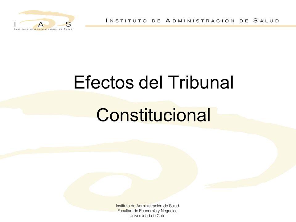 Efectos del Tribunal Constitucional
