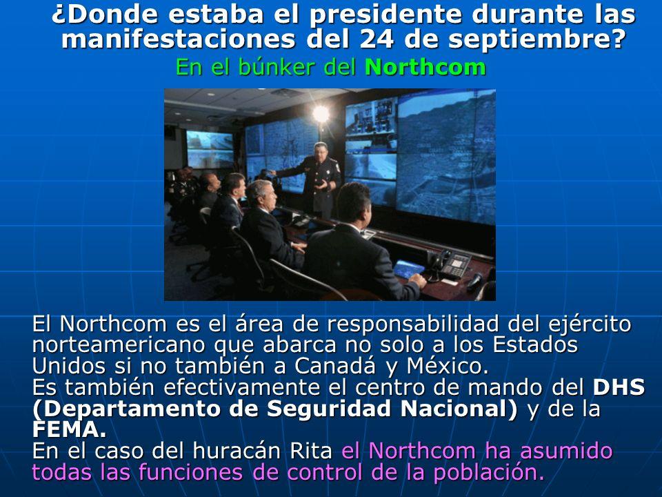 ¿Donde estaba el presidente durante las manifestaciones del 24 de septiembre? ¿Donde estaba el presidente durante las manifestaciones del 24 de septie