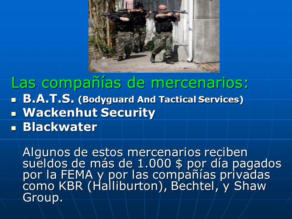 Las compañías de mercenarios: B.A.T.S. (Bodyguard And Tactical Services) B.A.T.S. (Bodyguard And Tactical Services) Wackenhut Security Wackenhut Secur
