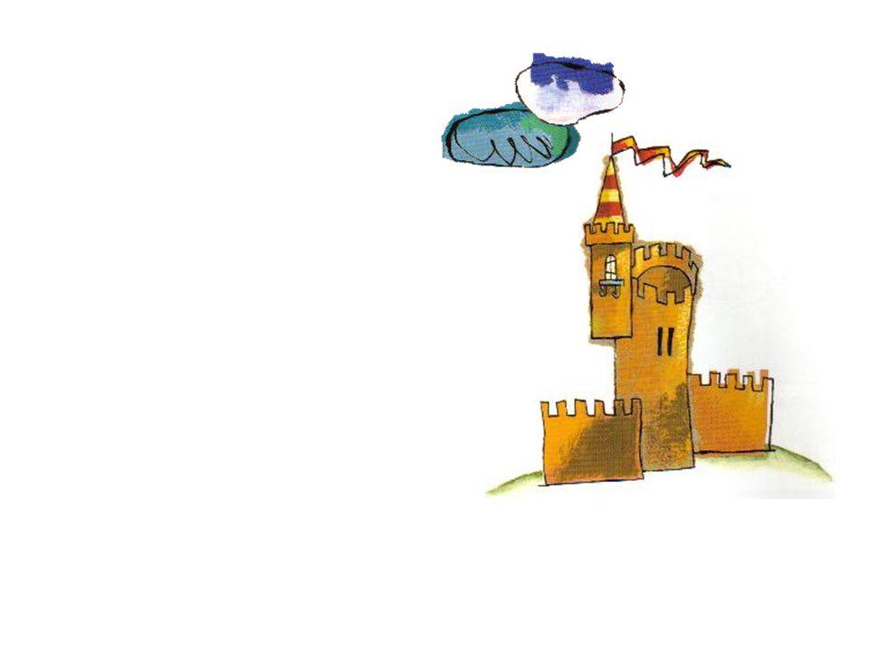 cuando, sobre lo alto de un cerro, divisó la silueta de un castillo.
