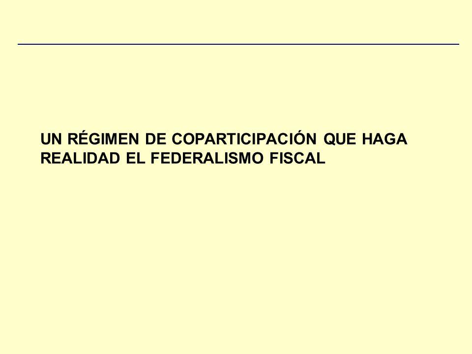 UN RÉGIMEN DE COPARTICIPACIÓN QUE HAGA REALIDAD EL FEDERALISMO FISCAL