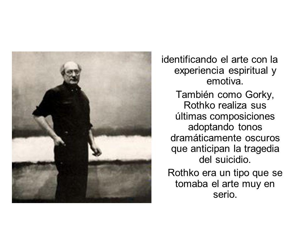 MARK ROTHKO Mark Rothkovitz (1903- 1970) es uno de los representantes más significativos del expresionismo abstracto norteamericano. De origen ruso, c