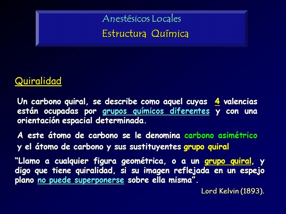 Quiralidad Un carbono quiral, se describe como aquel cuyas 4 valencias están ocupadas por grupos químicos diferentes y con una orientación espacial de