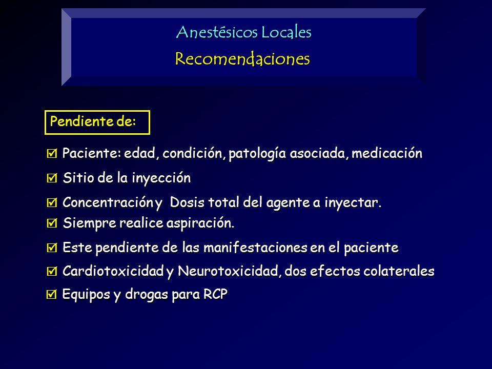 Sitio de la inyección Sitio de la inyección Paciente: edad, condición, patología asociada, medicación Paciente: edad, condición, patología asociada, m