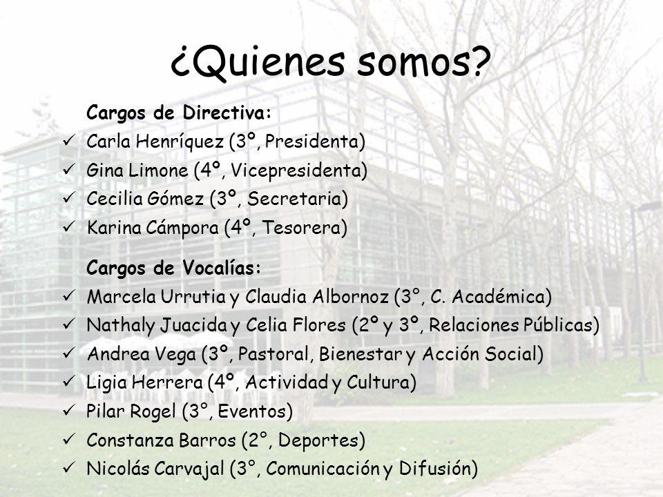 Naty Juacida, RRPP (2º) Carla Henríquez, Pdta.