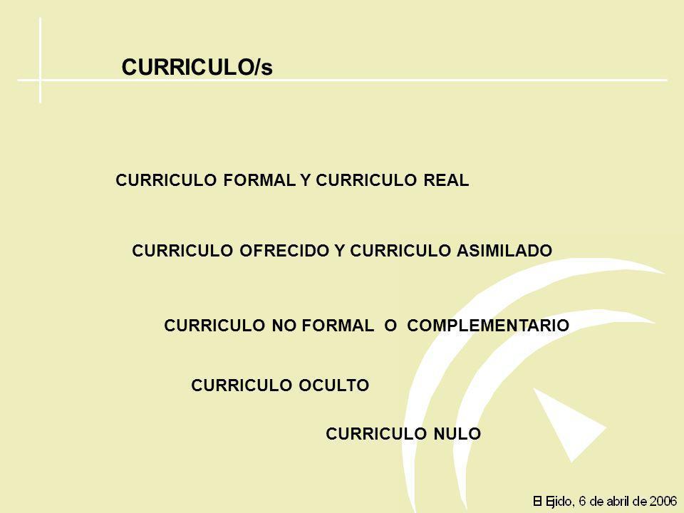 ADAPTACIÓN DEL DISEÑO CURRICULAR Currículo es un proyecto formativo que ofrece una institución y que debería ser contemplado como la operativización d