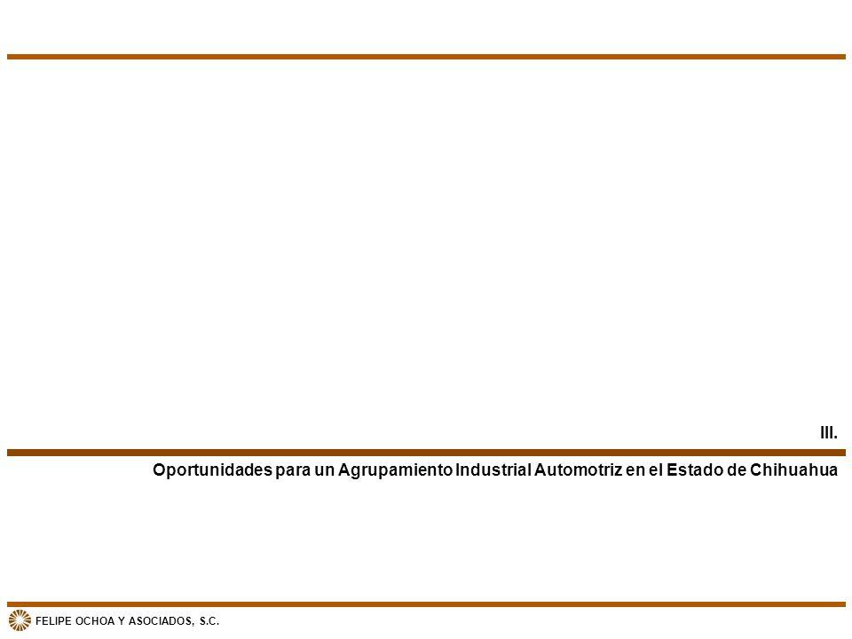 FELIPE OCHOA Y ASOCIADOS, S.C. Oportunidades para un Agrupamiento Industrial Automotriz en el Estado de Chihuahua III.