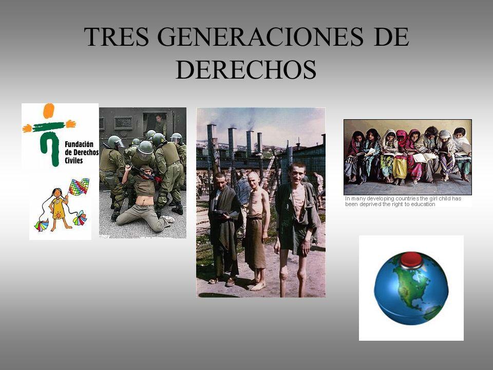 TRES GENERACIONES DE DERECHOS