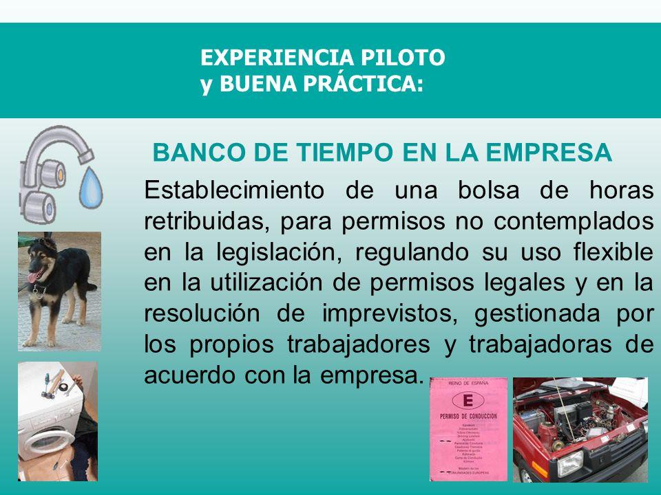BANCO DE TIEMPO EN LA EMPRESA Establecimiento de una bolsa de horas retribuidas, para permisos no contemplados en la legislación, regulando su uso fle