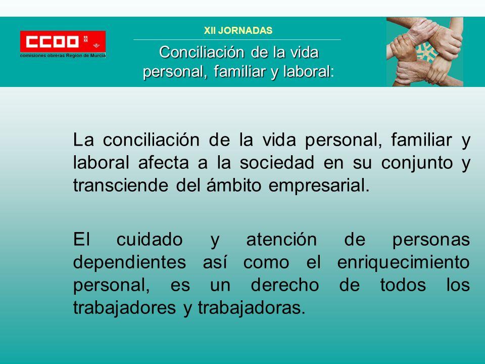 La distribución del tiempo de trabajo y del tiempo personal, es distinta entre hombres y mujeres.