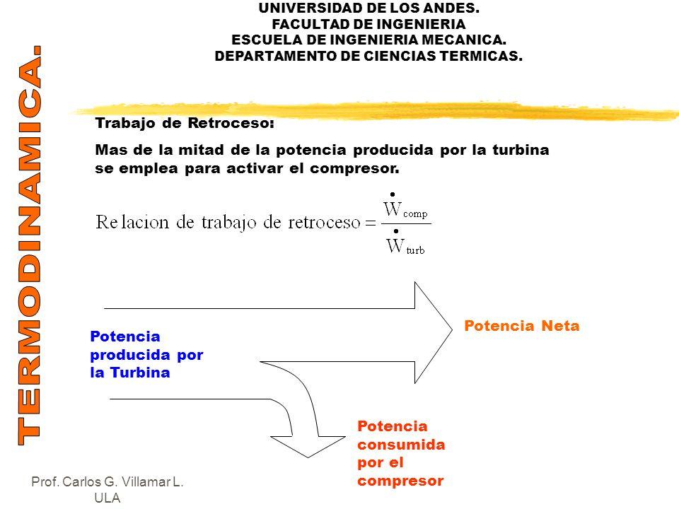 UNIVERSIDAD DE LOS ANDES. FACULTAD DE INGENIERIA ESCUELA DE INGENIERIA MECANICA. DEPARTAMENTO DE CIENCIAS TERMICAS. Trabajo de Retroceso: Mas de la mi