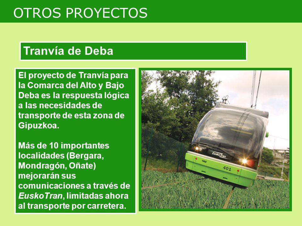 El proyecto de Tranvía para la Comarca del Alto y Bajo Deba es la respuesta lógica a las necesidades de transporte de esta zona de Gipuzkoa.