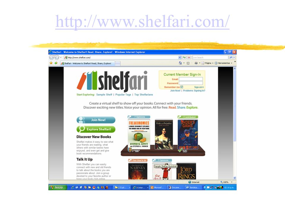 http://www.shelfari.com/
