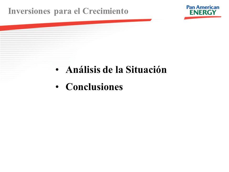 Inversiones para el Crecimiento Análisis de la Situación Conclusiones