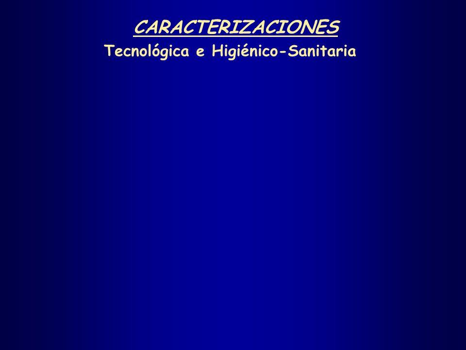 CARACTERIZACIONES Tecnológica e Higiénico-Sanitaria