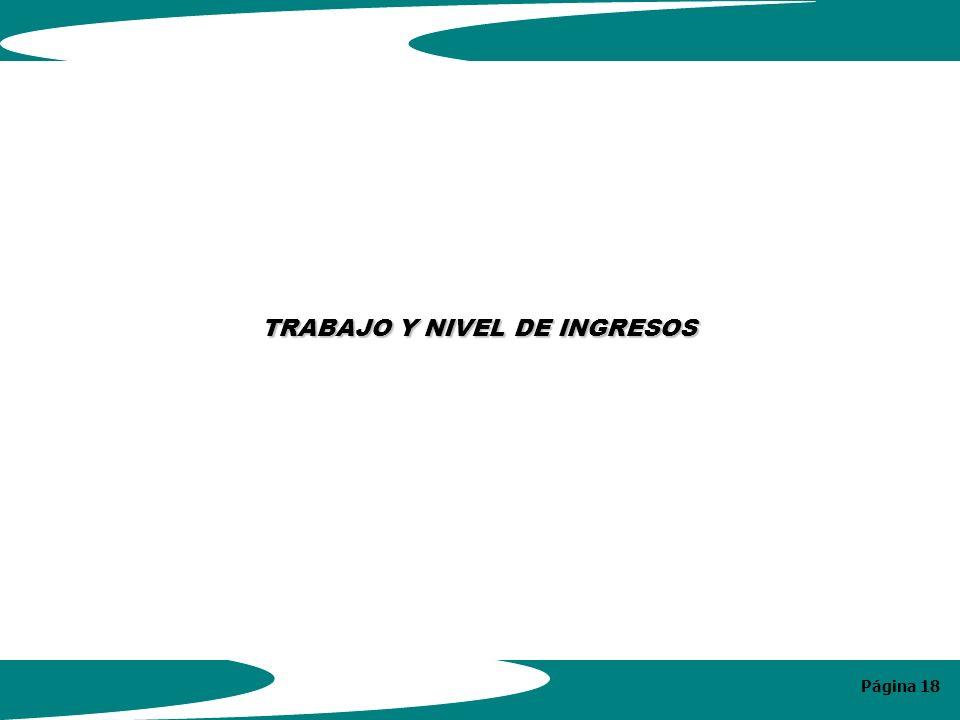 Página 18 TRABAJO Y NIVEL DE INGRESOS