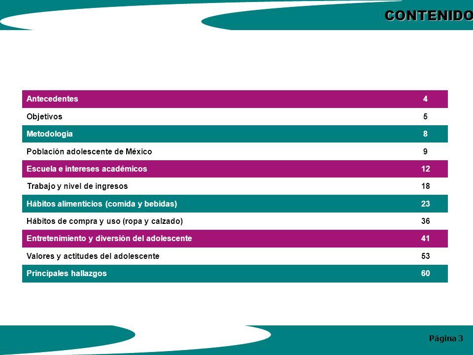 Página 24 COMIDAS DEL DÍA QUE HACE EL ADOLESCENTE Y PRODUCTOS QUE CONSUME DURANTE ELLAS (BASE = 200) P19.