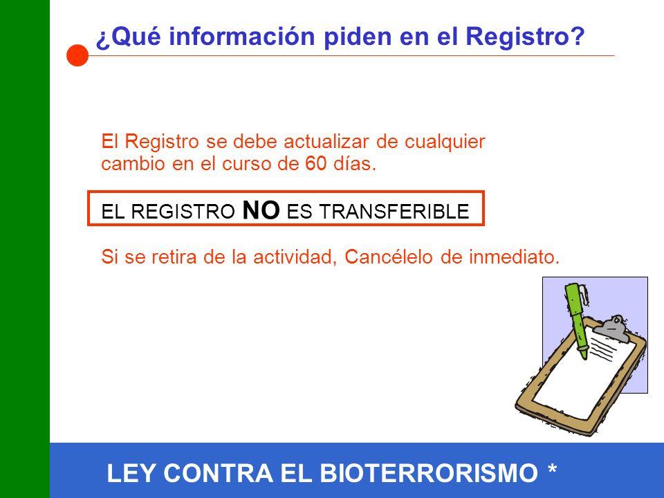¿Qué información piden en el Registro.