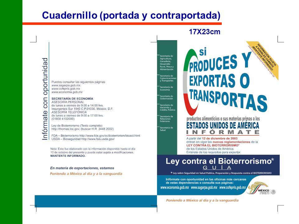 Cuadernillo (portada y contraportada) 17X23cm