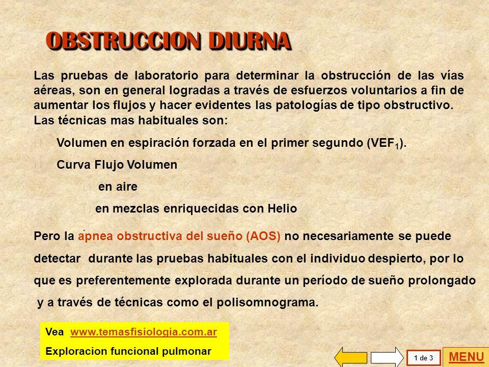 CURVA FLUJO VOLUMEN CARACTERIZACION DE PROCESOS OBSTRUCTIVOS DIURNOS CARACTERIZACION DE PROCESOS OBSTRUCTIVOS DIURNOS VOLUMEN EN ESPIRACIÓN FORZADA OB