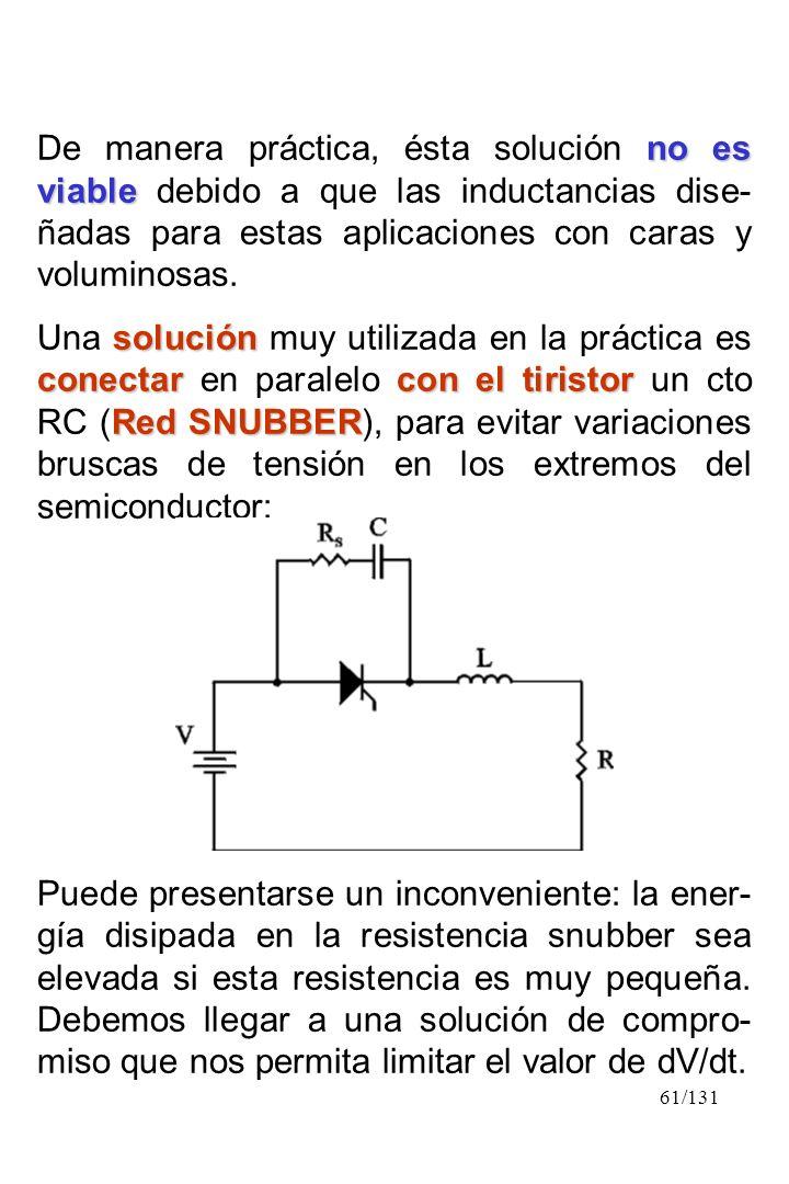 61/131 no es viable De manera práctica, ésta solución no es viable debido a que las inductancias dise- ñadas para estas aplicaciones con caras y volum